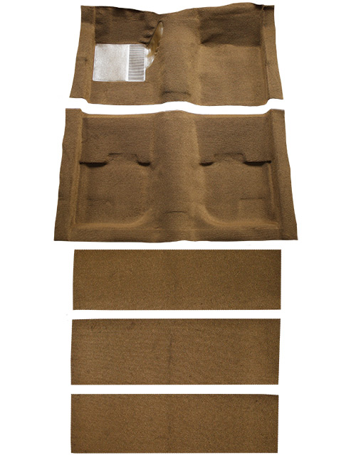 1969-1970 Ford Mustang Fastback with Folddowns Nylon Factory Fit Carpet