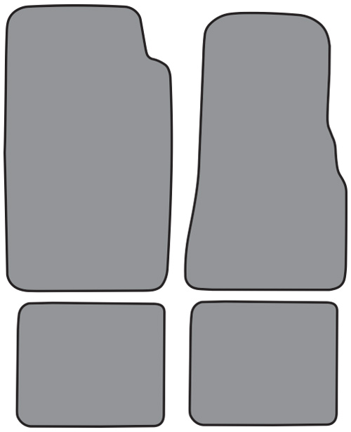 1984-1990 Ford Bronco II Cutpile 4pc Factory Fit Floor Mats