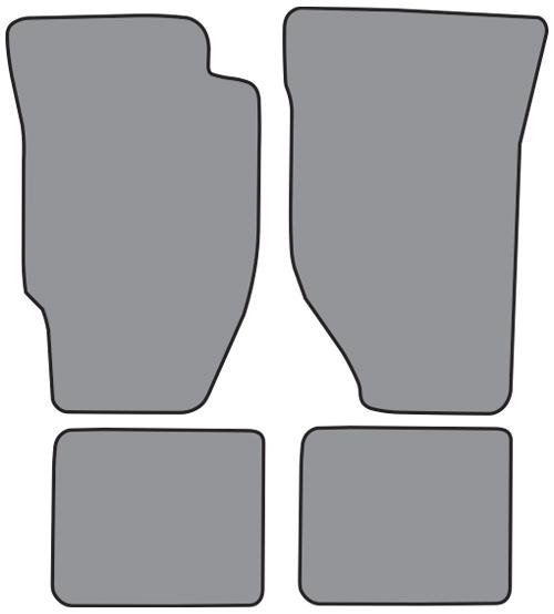 1986 1989 honda accord automatic cutpile 4pc factory fit for 1992 honda accord floor mats
