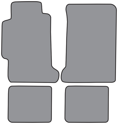 1990 1993 honda accord cutpile 4pc factory fit floor mats for 1992 honda accord floor mats