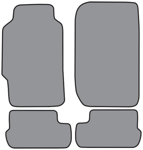 1988 1991 honda prelude cutpile 4pc factory fit floor mats for 1992 honda accord floor mats