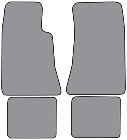 1976 1977 Toyota Celica Cutpile 4pc Factory Fit Floor Mats