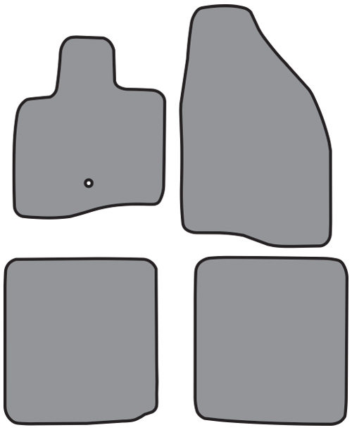 2005-2007 Ford Five Hundred Cutpile 4pc Factory Fit Floor Mats