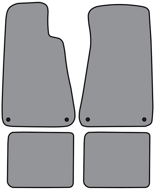 1994-1996 Buick Roadmaster with Snaps Cutpile 4pc Factory Fit Floor Mats
