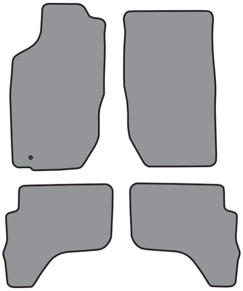 2001 2004 toyota tacoma double cab cutpile 4pc factory fit floor mats ebay. Black Bedroom Furniture Sets. Home Design Ideas