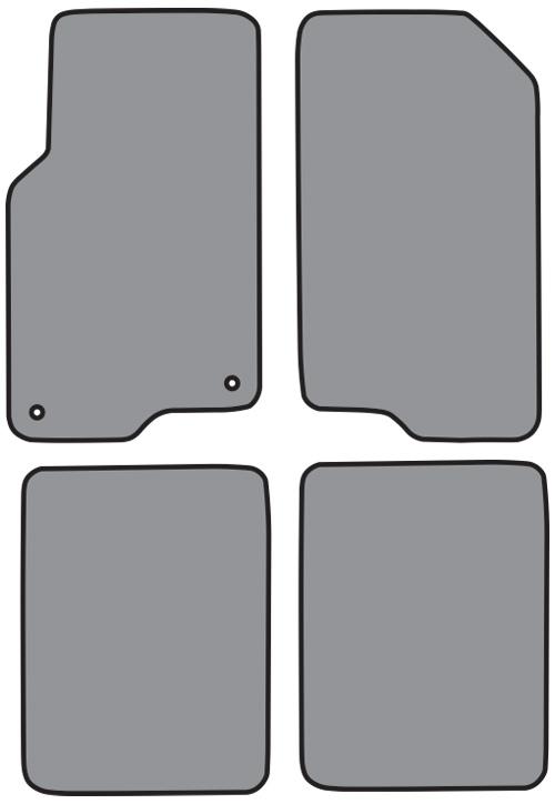 2006-2009 Pontiac Torrent Cutpile 4pc Factory Fit Floor Mats