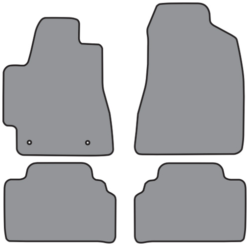2001-2007 Toyota Highlander Cutpile 4pc Factory Fit Floor Mats
