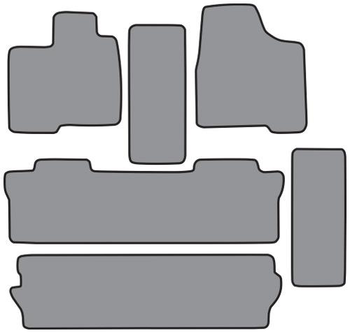2004 2010 toyota sienna 3pc frts 2 runners side door cutpile 6pc floor mats factory oem parts. Black Bedroom Furniture Sets. Home Design Ideas