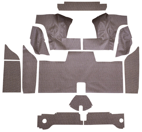 1961-1963 Ford Thunderbird Hardtop with Boards Fleece 13pc Trunk Mats