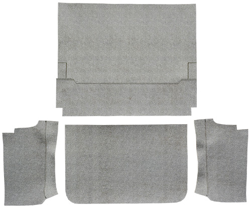 1965-1966 Ford Galaxie Fleece 4pc Factory Fit Trunk Mats