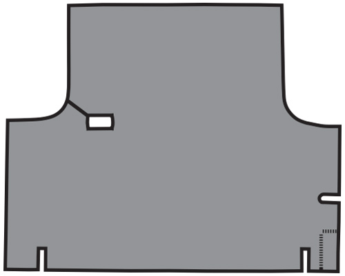 1967-1969 Dodge Dart Coupe Vinyl Factory Fit Trunk Mat
