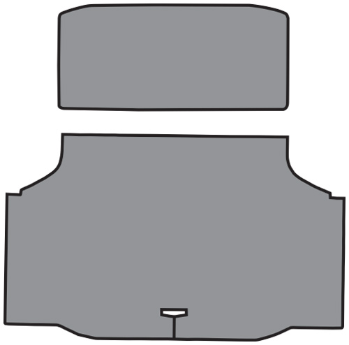 1970-1972 Oldsmobile Cutlass Vinyl 2pc Factory Fit Trunk Mats