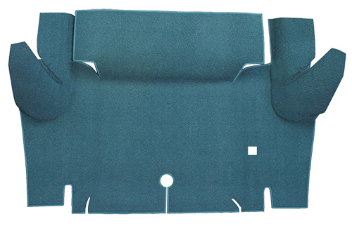 1965-1966 Ford Mustang Coupe Trunk Kit Floor Only Loop Factory Fit Trunk Mat