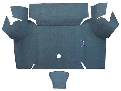 1967 1968 ford mustang coupe trunk kit floor only nylon for 1967 ford mustang floor mats