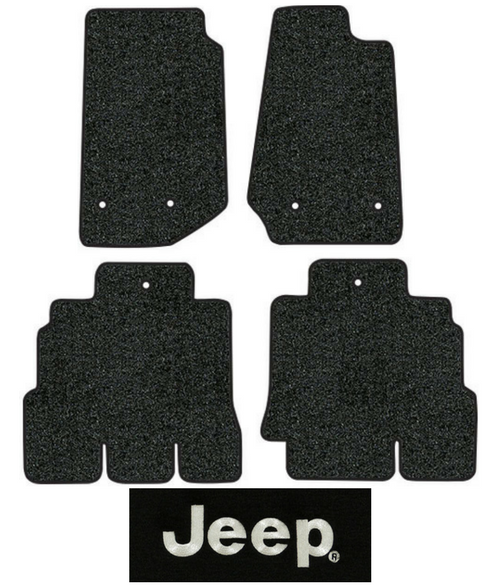 2014 2018 Jeep Wrangler Floor Mats 4pc Cutpile Fits