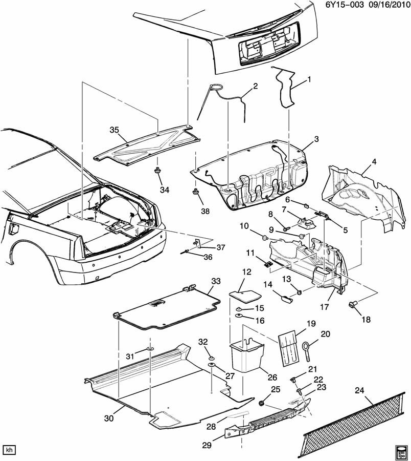 Service Manual 2004 Cadillac Xlr Removal Diagram 2004