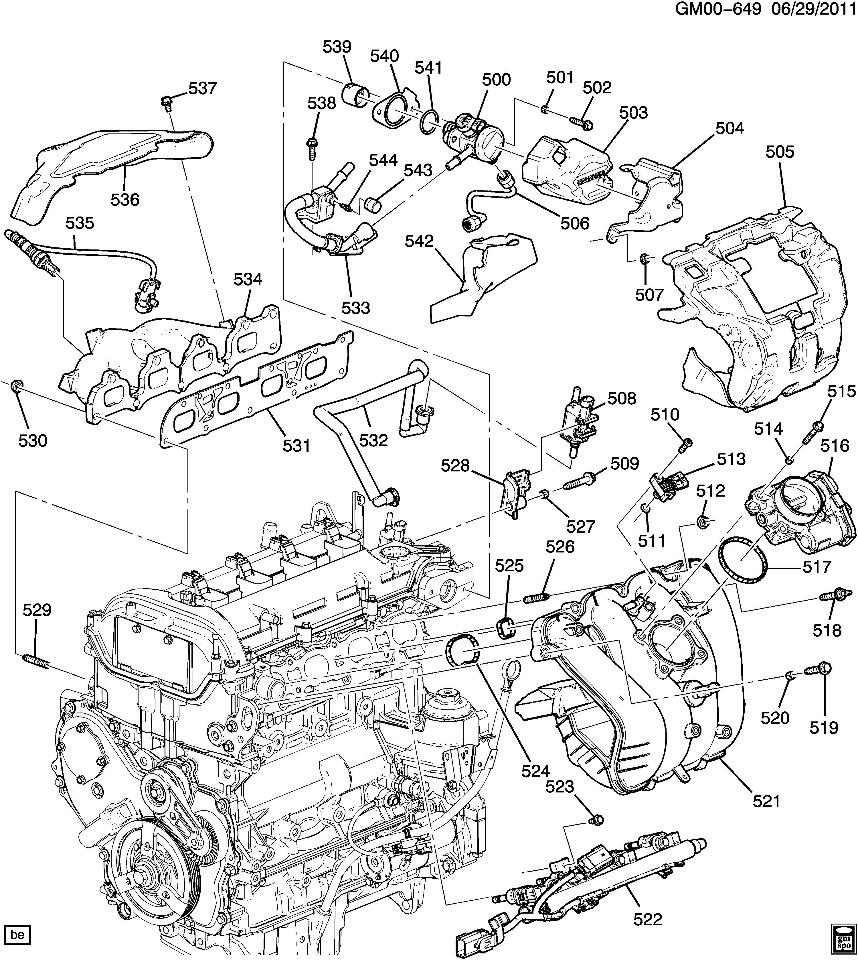 nissan 2 4 liter engine diagram chevy equinox 3 4 liter engine diagram 2010-2012 chevy equinox gmc terrain 2.4l heat shield ...