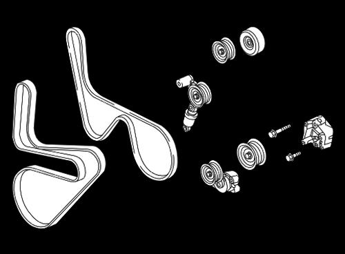 2015 chevrolet corvette c7 belt tensioner new oem gates