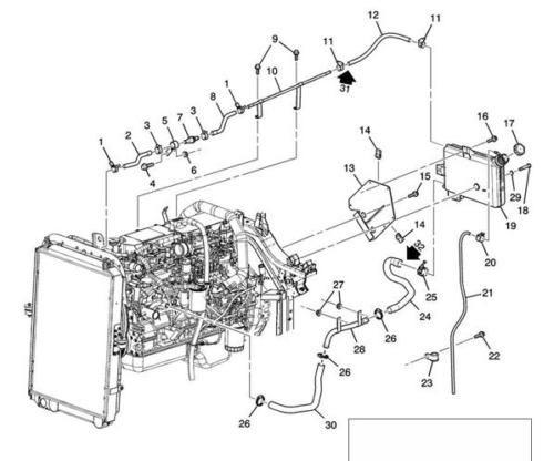Radiator Surge Tank Overflow Hose For Medium Truck Tilt