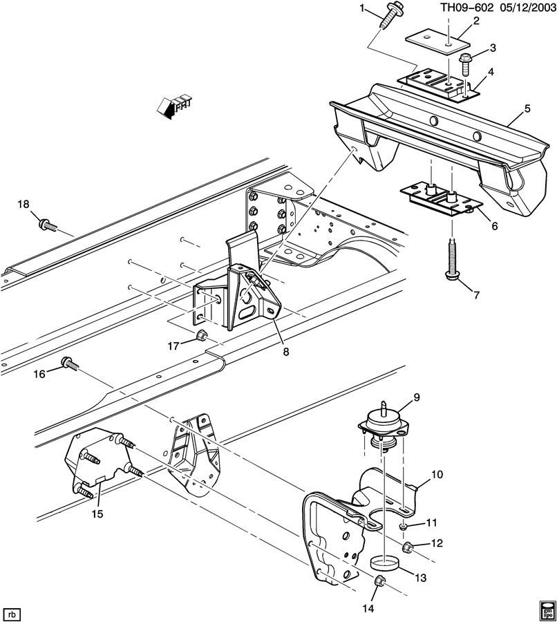 2003-2009 topkick/kodiak c4500-c8500 body to frame mount ... 2008 chevy truck parts diagram #6