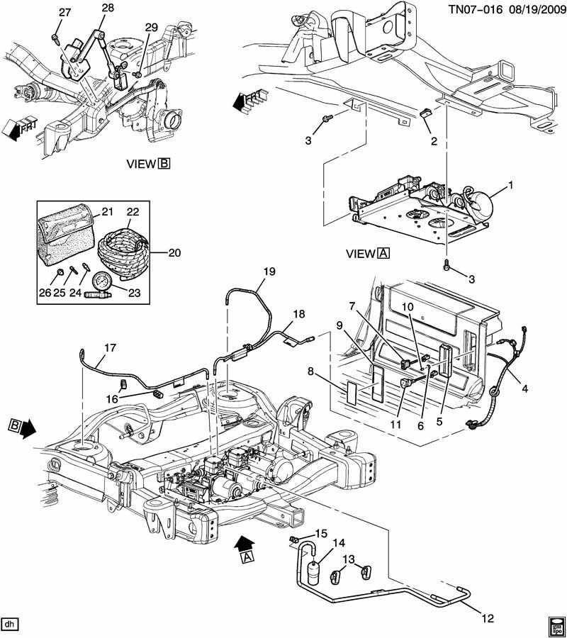 gm air ride suspension level pump switch 2004