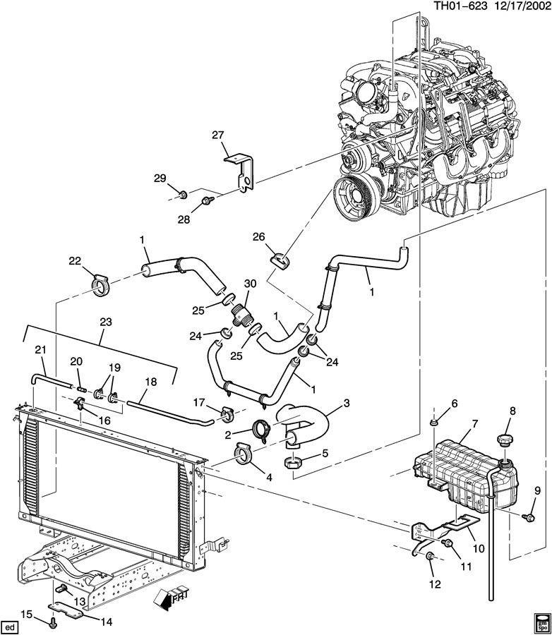 2003 2009 gmc topkick chevy kodiak engine coolant recovery. Black Bedroom Furniture Sets. Home Design Ideas