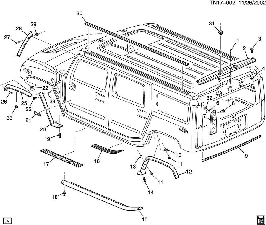 service manual  2007 hummer h2 digram for a rear floor removable