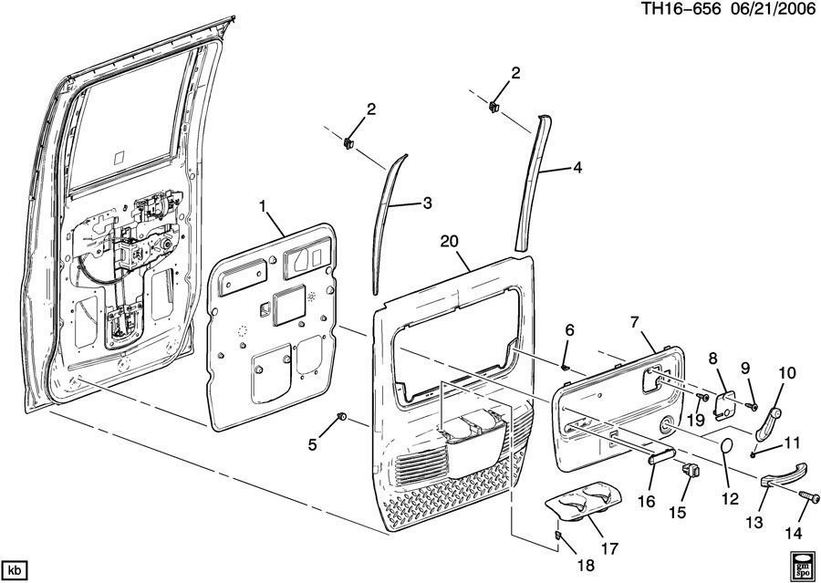 2003 2009 topkick kodiak c4500 c8500 rh rear door panel. Black Bedroom Furniture Sets. Home Design Ideas