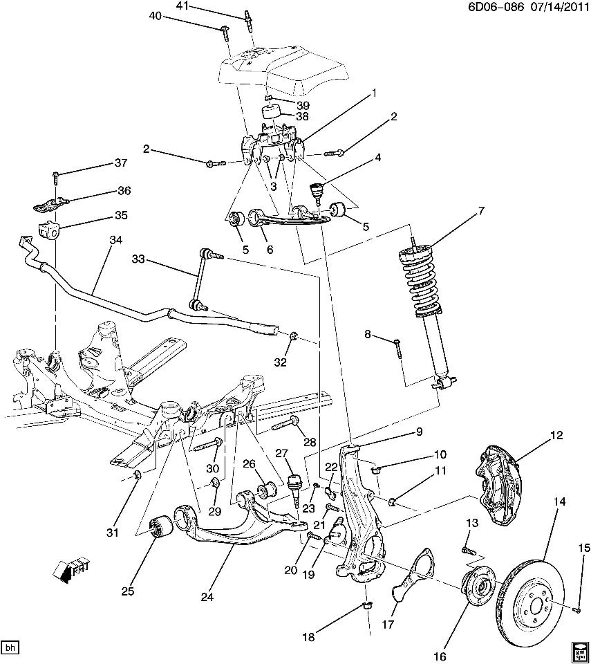 cadillac xlr front suspension diagram