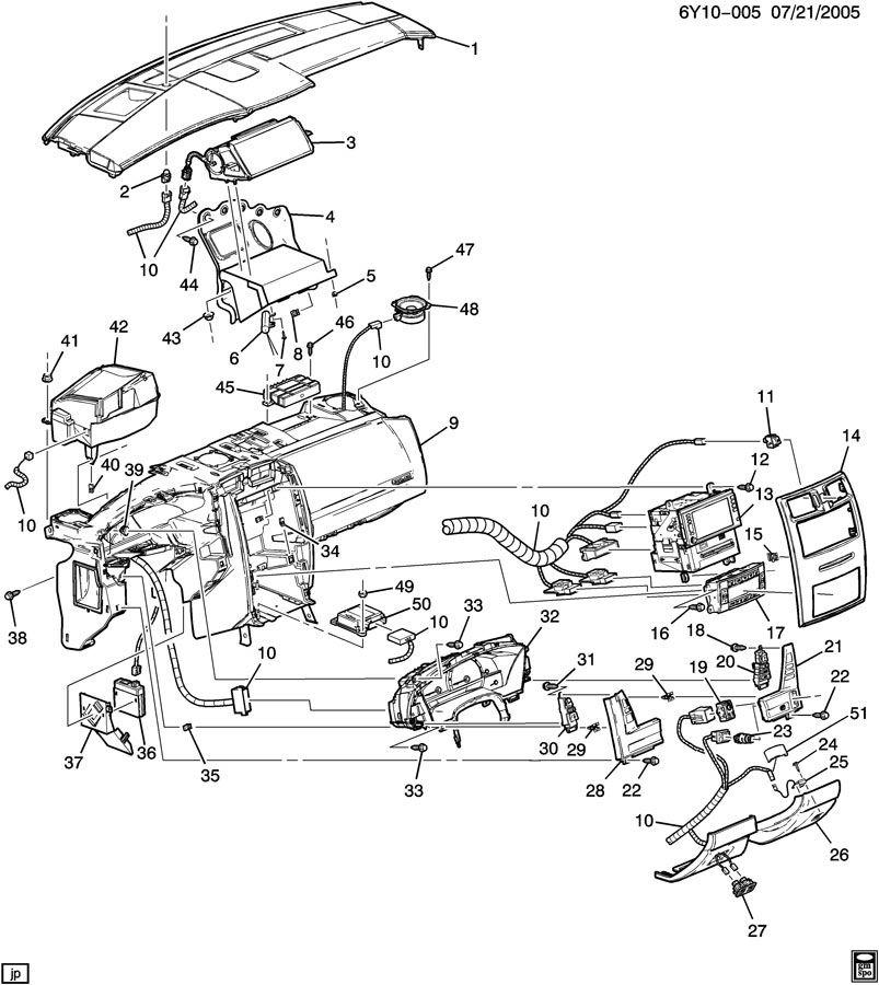 2004 2009 Cadillac Xlr Rh Ebony Plastic Engine Start