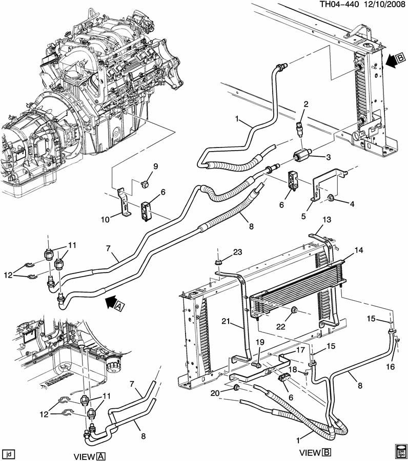 15865060 2003 2009 topkick kodiak c4500 c5500 transmission oil cooler adapter 15865060 3 diagram of 2003 chevy 4500 fuel system 100 images duramax cp3 Allison 4000 Wiring Schematic at virtualis.co
