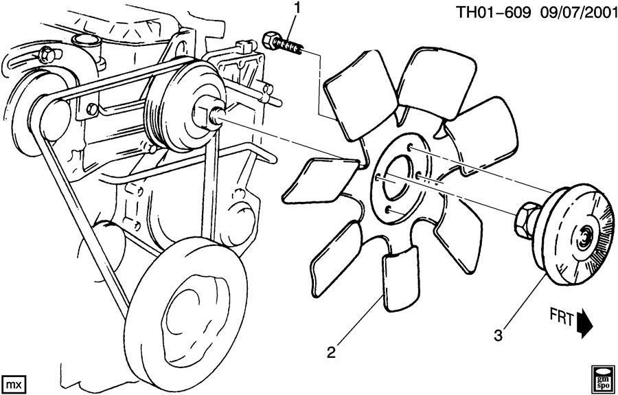 Fan Blade Drawing : Engine cooling fan blade b diesel lf lqf c