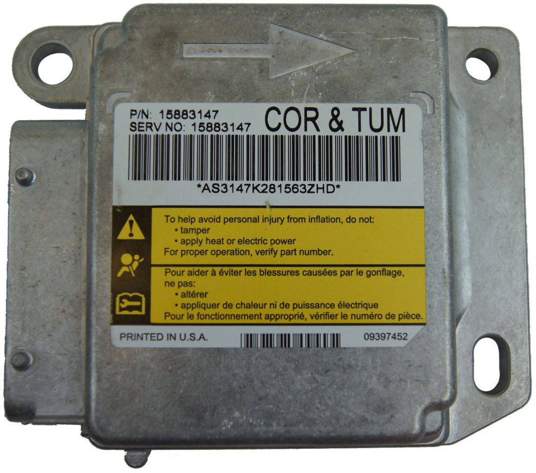 Corvette C Airbag Air Bag Module Ecu on corvette air bags replacement