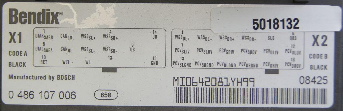 200709 Topkickkodiak T7500 T8500 Electronic Air Brake Control