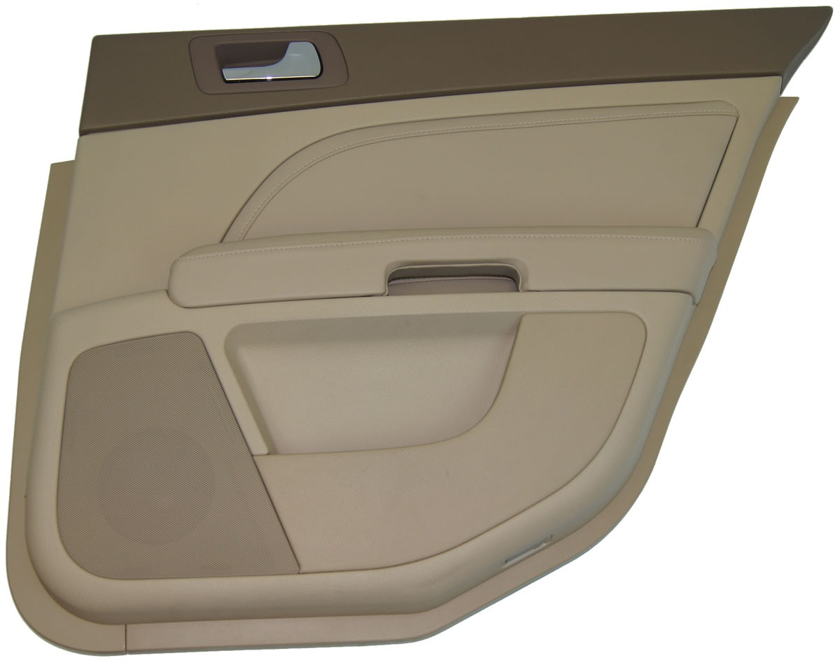 2008 2011 Cadillac Sts Right Rear Door Panel Cashmere Cocoa Leather Woodgrain Factory Oem Parts