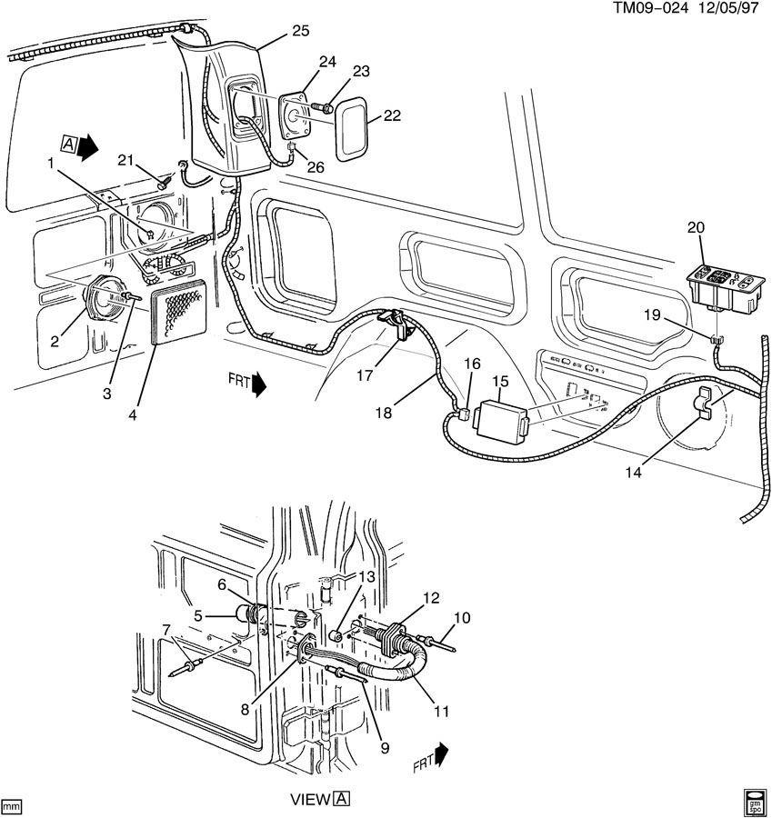 1996-2005 chevy astro gmc safari rear right speaker grille ... 2002 gmc safari parts diagram 1998 gmc safari wiring diagram