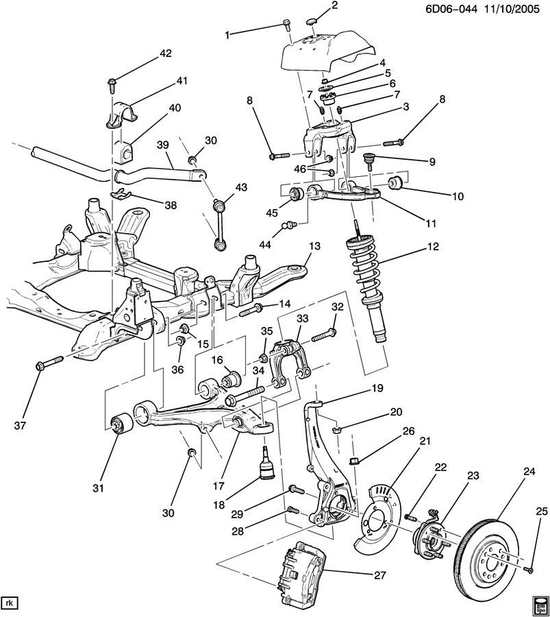 2014 Chrysler 300 Clevis Left Front Suspension Awd: 2005-2011 Cadillac STS & STS-V Steering Knuckle Right