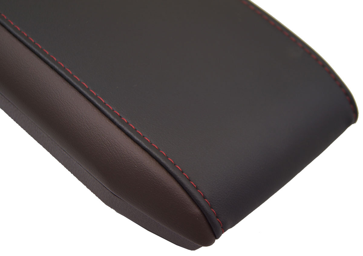 Equinox Terrain Center Console Armrest Lid Brown Black W Red Stitching on 2010 Gmc Terrain Parts Diagram