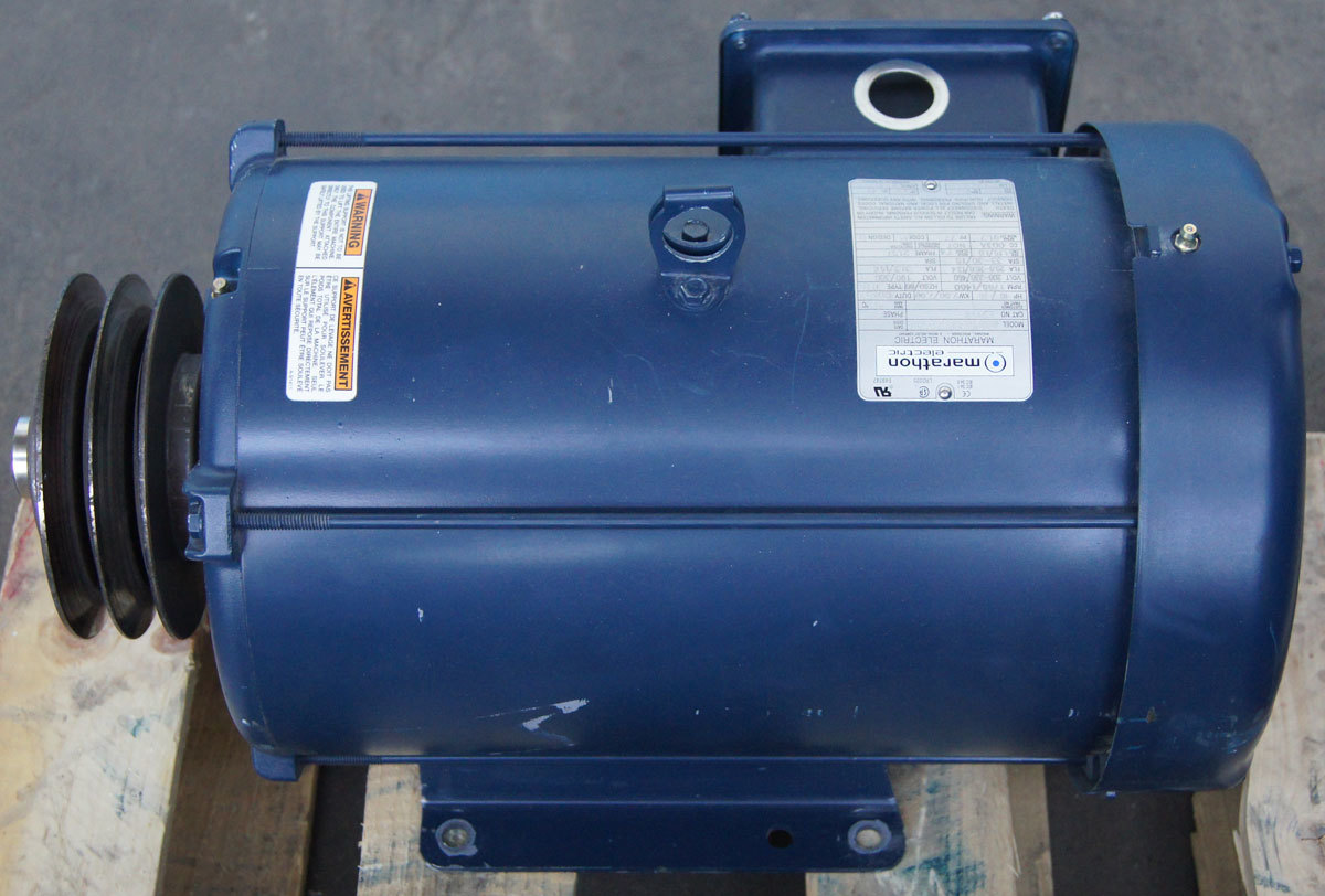 Marathon Electric Motor 3 Phase 10hp 208 230 460v 1765rpm