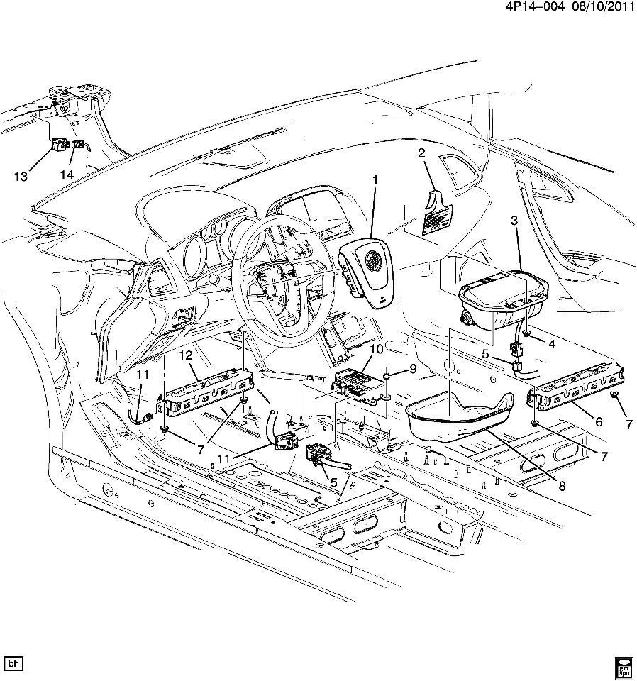 2012 Buick Verano Price: 2012-15 Buick Verano RH Passenger Knee Airbag Air Bag New