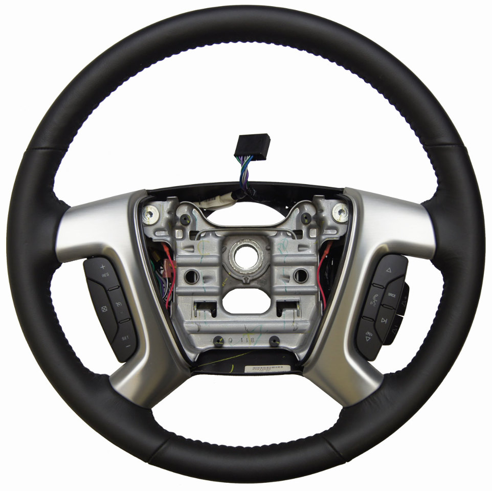 2013 2016 gmc acadia enclave steering wheel leather new 22818080 23330587 factory oem parts