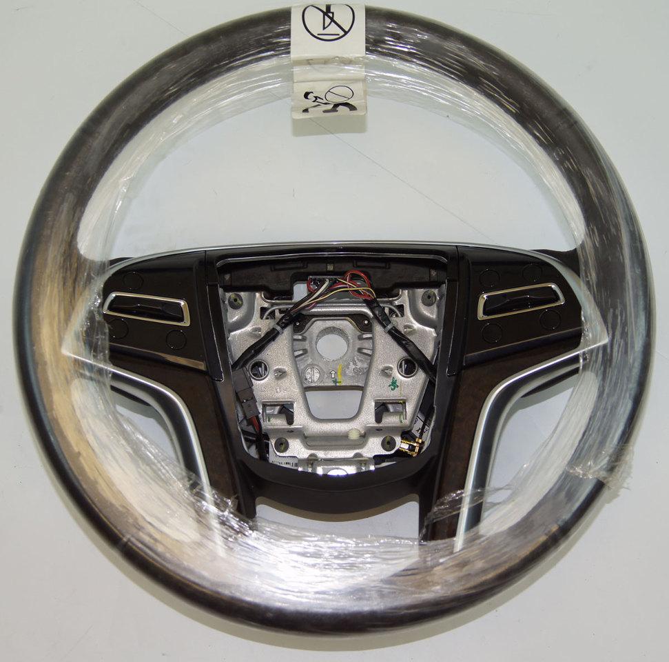 2013-2014 Cadillac XTS Steering Wheel Black Leather Brown