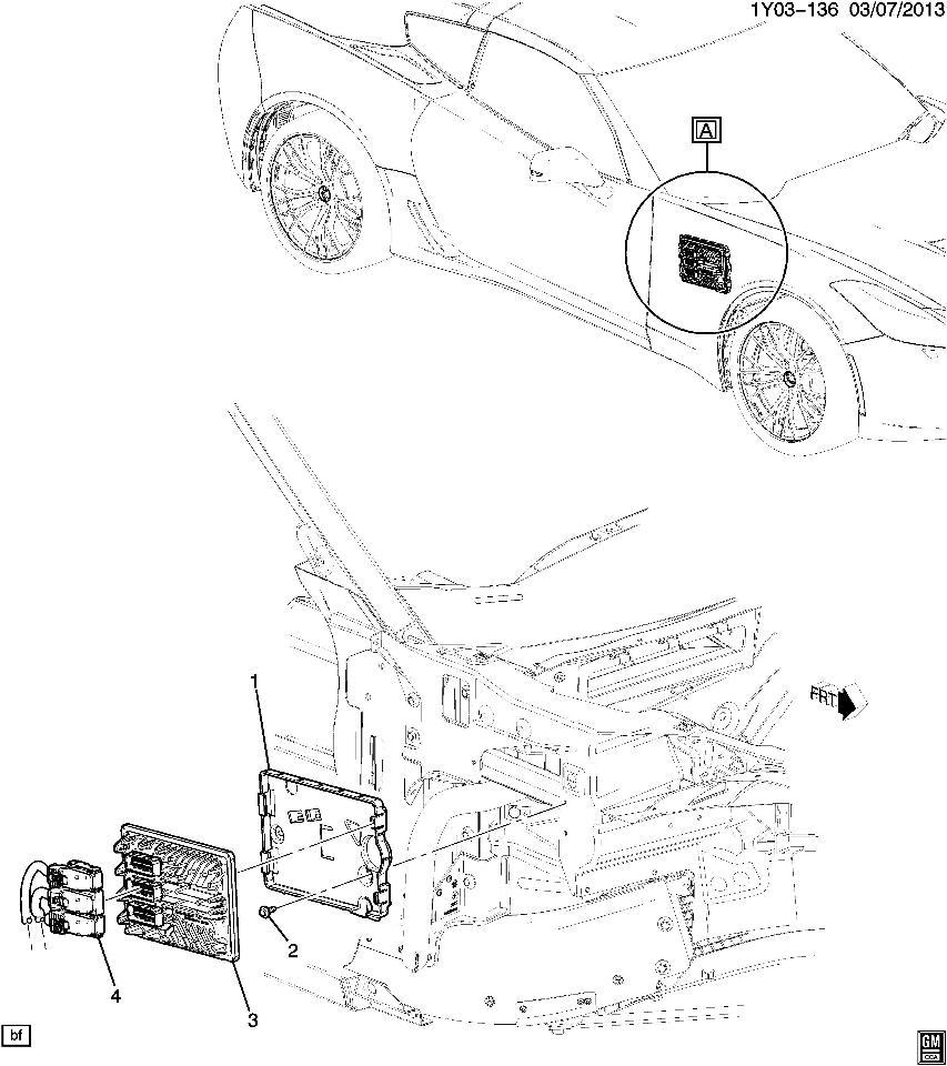 2015 Chevrolet Corvette C7 Emission Control Ecu Mount Bracket New 23130710 22739400