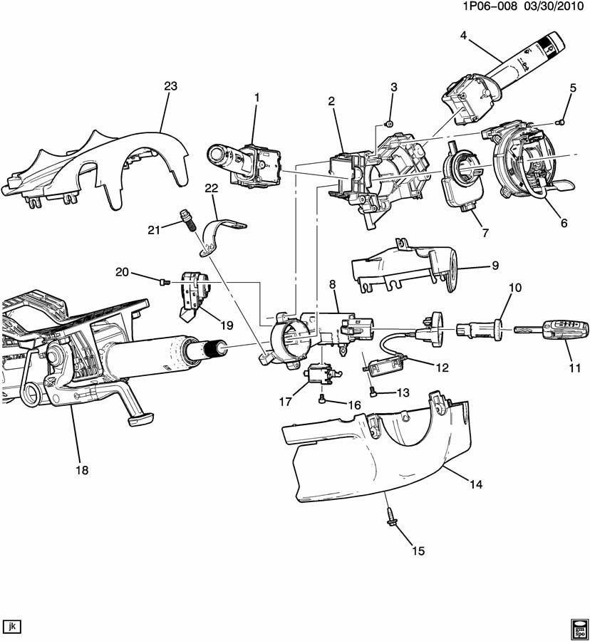 2011 ignition locks new 23138170