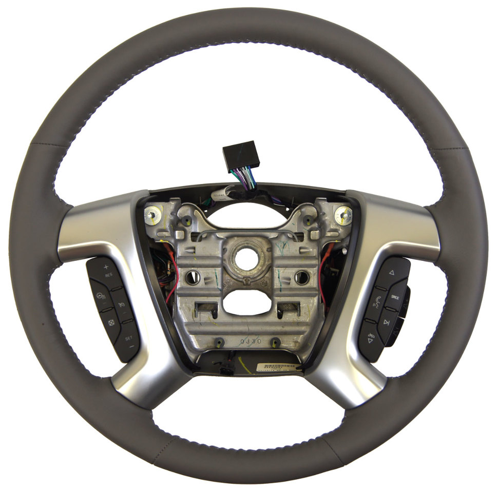 2013 2017 chevy traverse steering wheel titanium grey leather 23142241 22915147 factory oem parts. Black Bedroom Furniture Sets. Home Design Ideas
