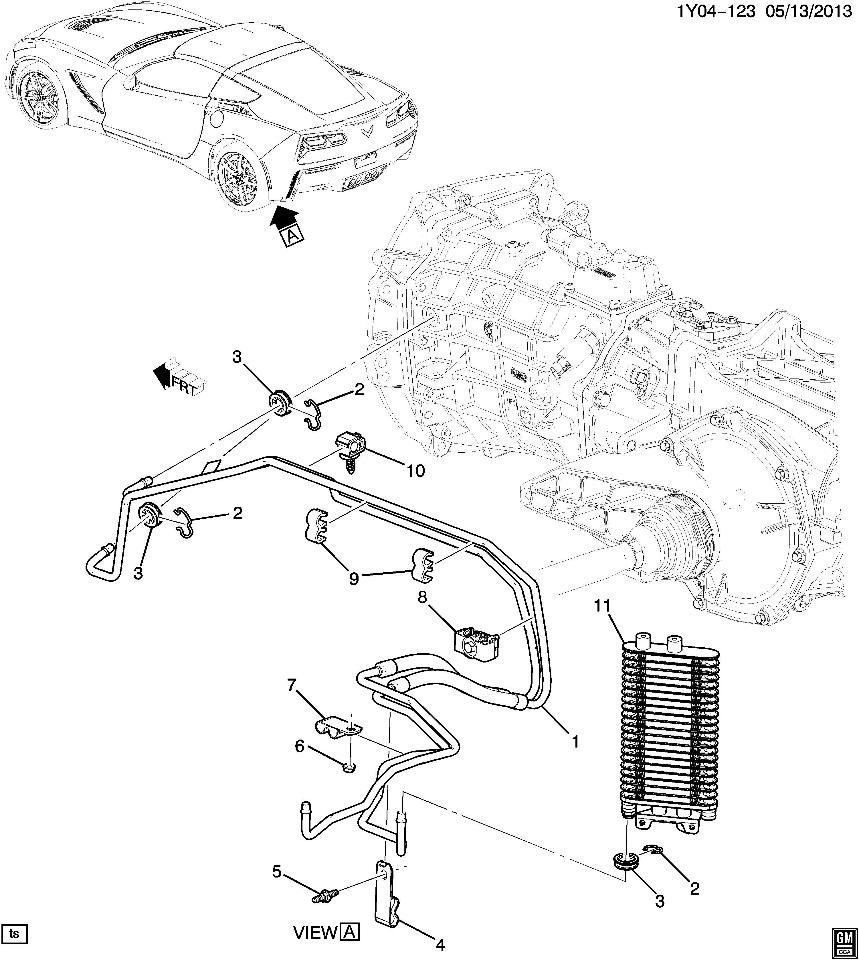 2015 chevrolet corvette c7 z06 manual transmission cooler new 23224810 23283460 factory oem parts