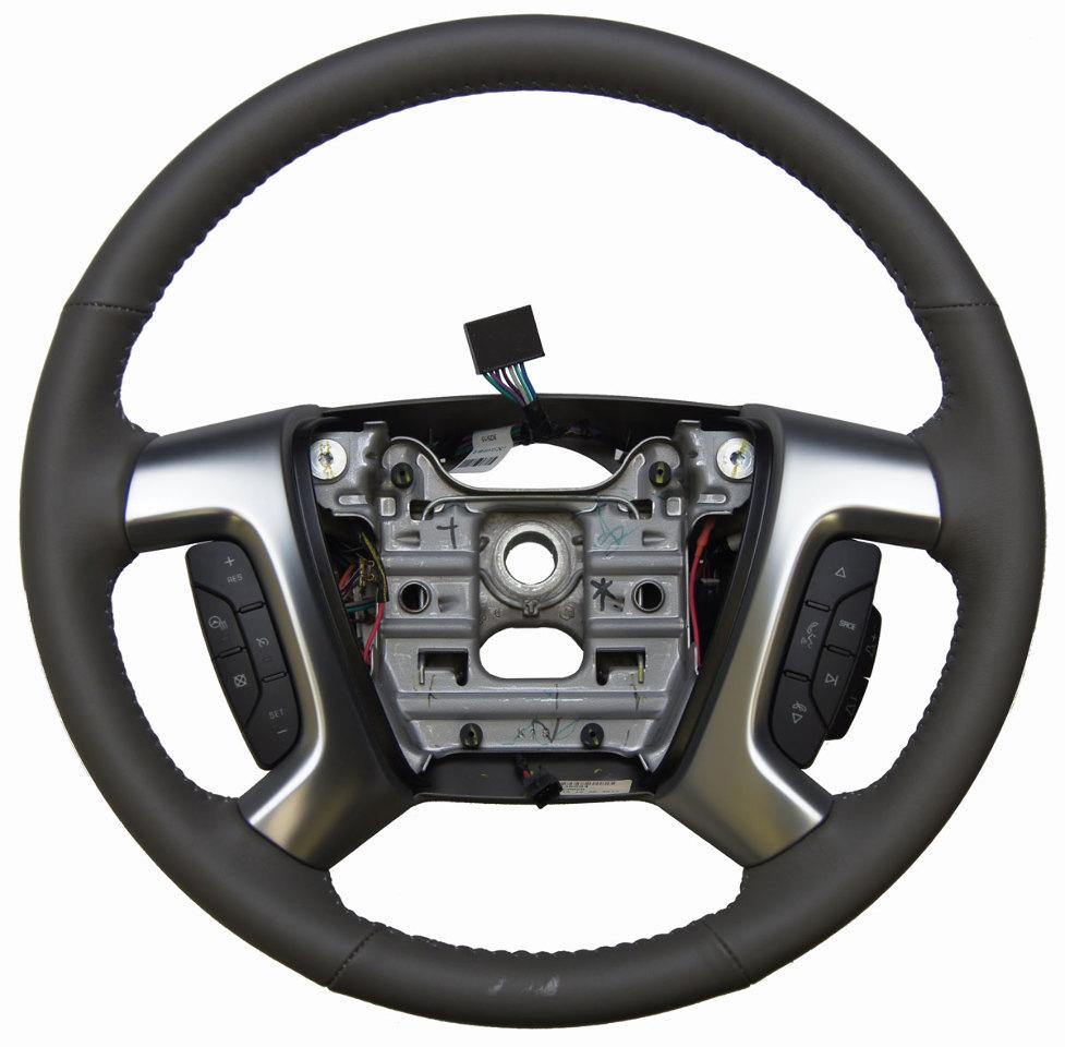2013 16 gmc acadia enclave steering wheel titanium leather new oem 23330594 factory oem parts