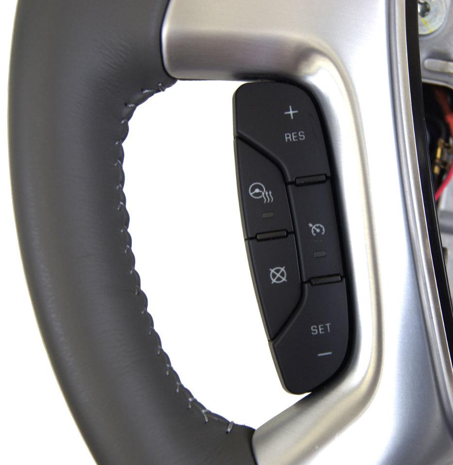 2015 Gmc Acadia Steering Wheel Grey Leather New Oem