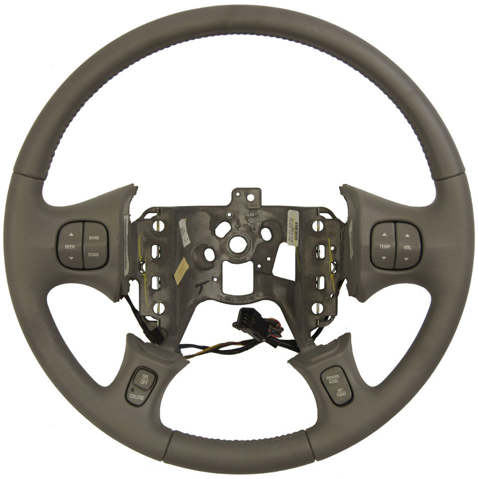 Buick Lesabre Steering Wheel Med Grey Leather New W Cruise Audio Temp on 2007 Buick Lacrosse Fuel Economy