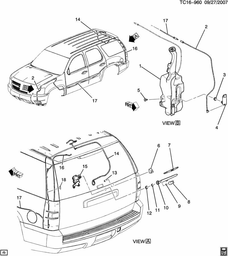 07 cadillac escalade parts diagram